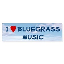 """I (heart) Bluegrass Music"" Bumper Bumper Sticker"