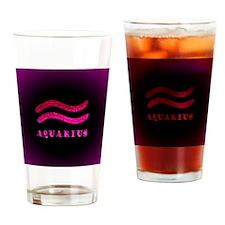 Aquarius Zodiac Symbol Drinking Glass
