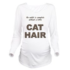 FIN-outfit-cat-hair... Long Sleeve Maternity T-Shi