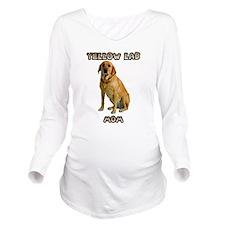 Yellow Lab Mom Long Sleeve Maternity T-Shirt