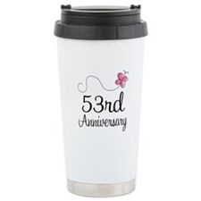 53rd Anniversary Butterfly Travel Mug