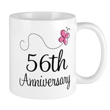 56th Anniversary Butterfly Mug