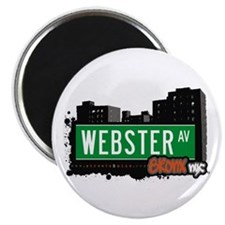 "Webster Av, Bronx, NYC 2.25"" Magnet (10 pack)"