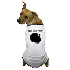 Custom Turkey Silhouette Dog T-Shirt