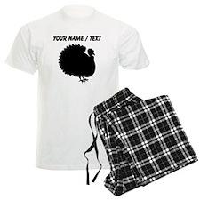 Custom Turkey Silhouette Pajamas