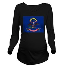 North Dakota flag Long Sleeve Maternity T-Shirt