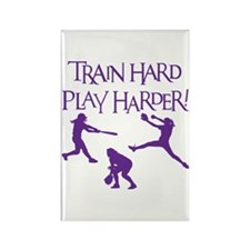 TRAIN HARD Rectangle Magnet