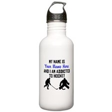 Addicted To Hockey (Custom) Sports Water Bottle