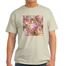 Colorful Watercolor Floral Pattern A T-Shirt