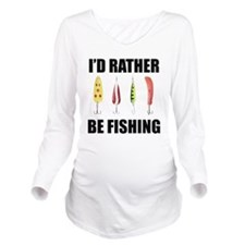 FIN-rather be fishing.png Long Sleeve Maternity T-