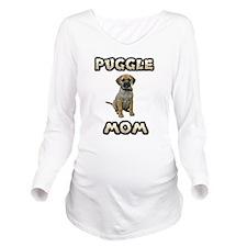 FIN-puggle-mom.png Long Sleeve Maternity T-Shirt