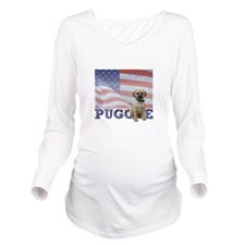 FIN-puggle-patriotic2.png Long Sleeve Maternity T-