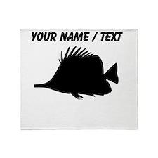 Custom Needle Nose Fish Silhouette Throw Blanket