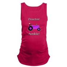 Purple Tractor Junkie Maternity Tank Top