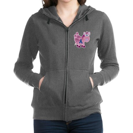 blue ribbon pegasus copy.png Zip Hoodie