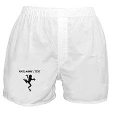Custom Frog Silhouette Boxer Shorts