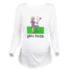 FIN-grill-power.png Long Sleeve Maternity T-Shirt