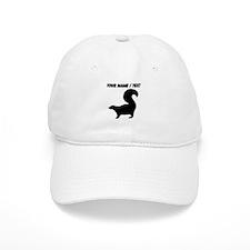 Custom Skunk Silhouette Baseball Baseball Cap
