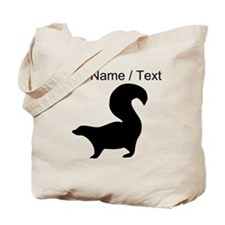 Custom Skunk Silhouette Tote Bag