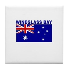 Wineglass Bay, Australia Tile Coaster
