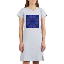 kaleido art 15 blue Women's Nightshirt