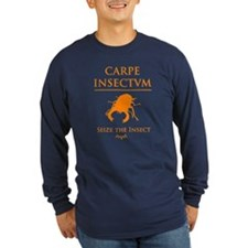 Carpe Insetum D orange 2 Long Sleeve T-Shirt