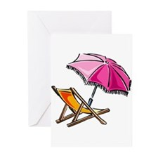 BEACH CHAIR [3] Greeting Cards (Pk of 10)