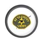 Kings County Sheriff Wall Clock
