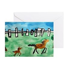Horsin' Around Blank Note Cards (Pk of 10)