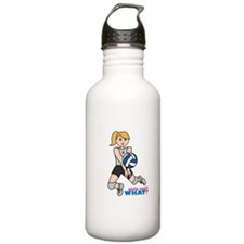 Volleyball Player Light/Blonde Water Bottle