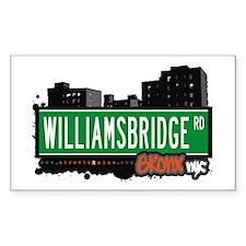Williamsbridge Rd, Bronx, NYC Sticker (Rectangular