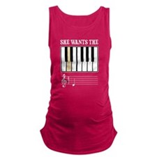 She Wants the D Piano Music Maternity Tank Top