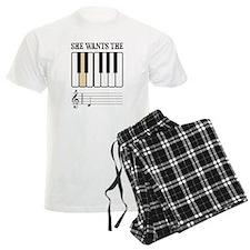 She Wants the D Piano Music Pajamas