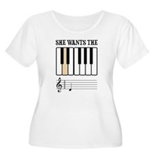 She Wants the D Piano Music Plus Size T-Shirt