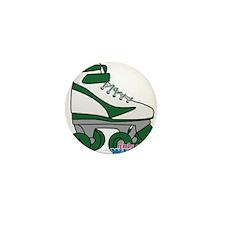 Roller Derby Skate Green Mini Button
