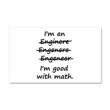 Im an Engineer Im Good at Math Car Magnet 20 x 12