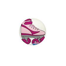 Roller Derby Skate Pink Mini Button
