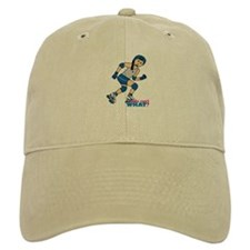 Roller Derby Girl Medium Baseball Cap