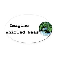 Unique Imagine peace Oval Car Magnet