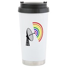 Gaydar Gay Rainbow LGBT Radar Travel Mug
