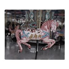 Pretty carousel horse Throw Blanket
