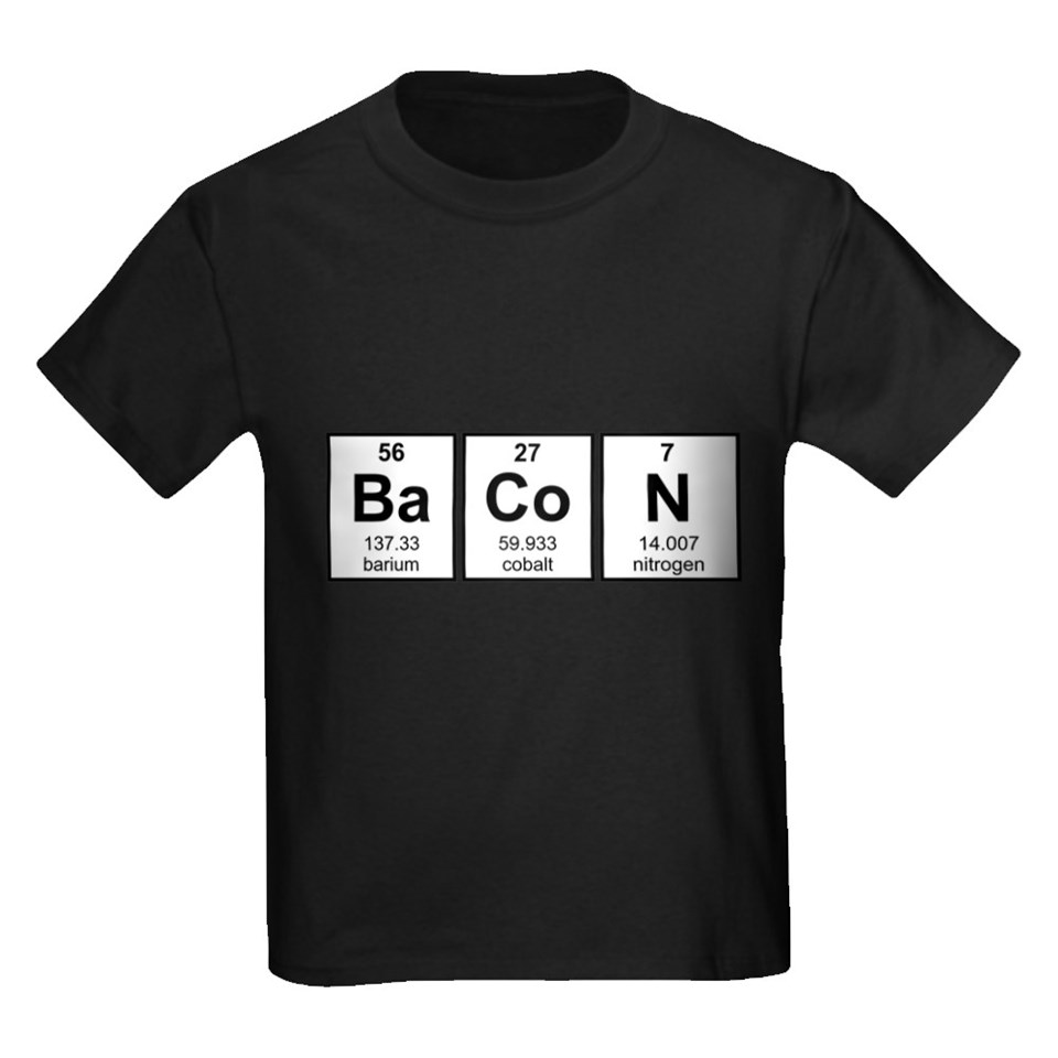 95610389 Bacon Periodic Table Element Symbols T Shirt by The_Shirt_Yurt on ...