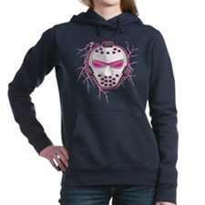 lightning,pink,mask.png Hooded Sweatshirt
