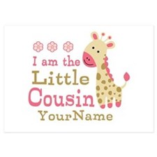 I am the Little Cousin Personalized 5x7 Flat Cards
