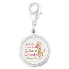 I am the Little Cousin Personalized Silver Round C