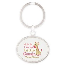 I am the Little Cousin Personalized Oval Keychain
