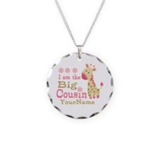 Pink Giraffe Big Cousin Personalized Necklace
