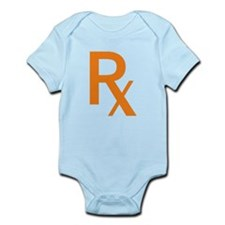 Orange Rx Symbol Infant Bodysuit
