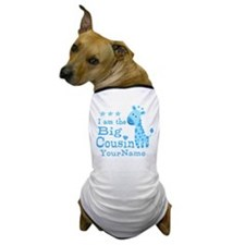 Blue Giraffe Personalized Big Cousin Dog T-Shirt