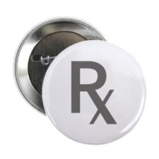 "Grey Rx 2.25"" Button (10 pack)"